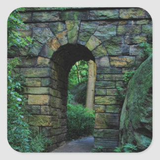 Central Park: Ramble Stone Arch Square Sticker