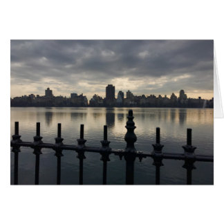 Central Park Reservoir New York City Skyline NYC Card