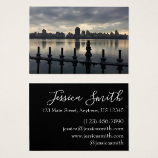 Central Park Reservoir New York City Sunrise NYC Business Card