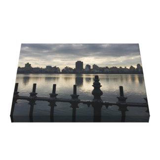 Central Park Reservoir New York City Sunrise NYC Canvas Print