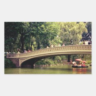 Central Park Romance - Bow Bridge - New York City Rectangular Stickers