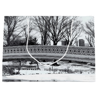 Central Park's Bow Bridge Photo Large Gift Bag
