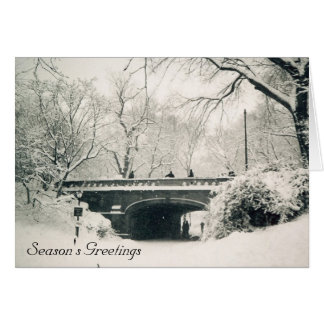 central park season's greetings card