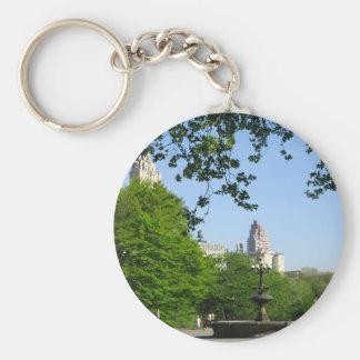 Central Park Skyline Basic Round Button Keychain