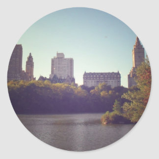 Central Park Skyline, Late Summer, New York City Round Sticker