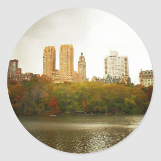 Central Park Skyline, New York City Round Sticker