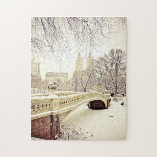 Central Park Snow - Winter New York Jigsaw Puzzle
