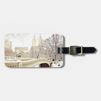 Central Park Snow - Winter New York Luggage Tag