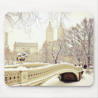 Central Park Snow - Winter New York Mouse Pad