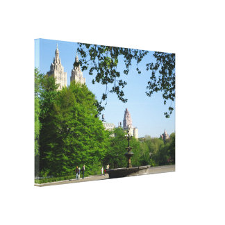 Central Park Spring Skyline Canvas Print