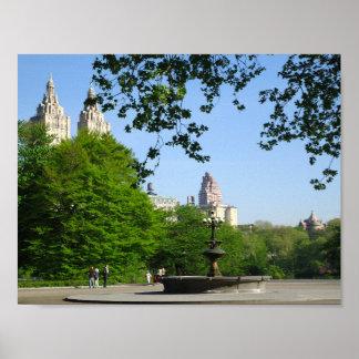 Central Park Spring Skyline Poster