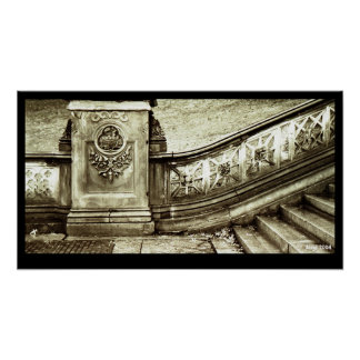 Central Park Stairs Poster