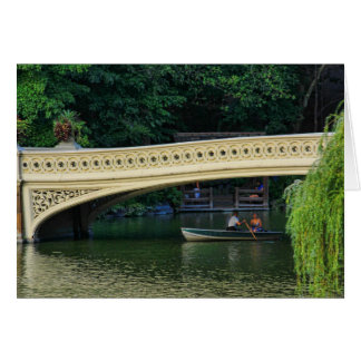 Central Park: Summer Boaters by Bow Bridge Card