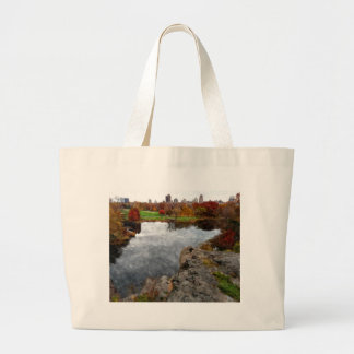 Central Park Watercolor Large Tote Bag