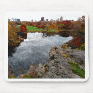 Central Park Watercolor Mouse Pad