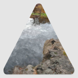 Central Park Watercolor Triangle Sticker