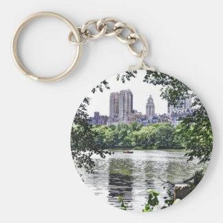 Central Park West Basic Round Button Keychain