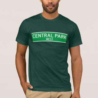 Central Park West, New York Street Sign T-Shirt