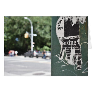 Central Park West NYC Boxing Flyer Photography Card