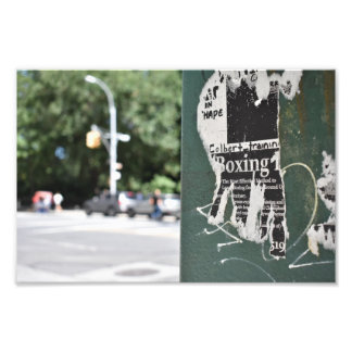 Central Park West NYC Boxing Flyer Photography Photo Print