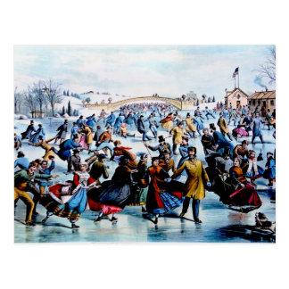Central Park Winter Postcard