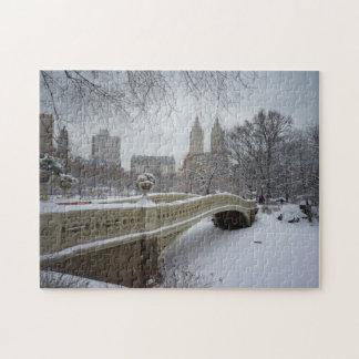 Central Park Winter Puzzle -  Bow Bridge
