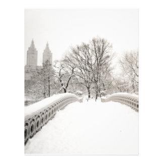 Central Park Winter Romance - Bow Bridge Letterhead Design
