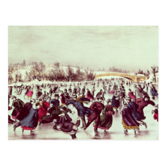 Central Park, Winter: The Skating Carnival Postcard