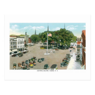 Central Square, Keene, New Hampshire Postcard
