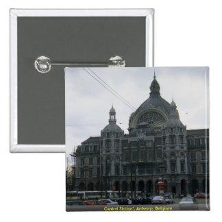 "Central Station"", Antwerp, Belgium Pin"
