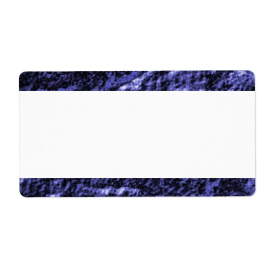 Centre Band - Blue Coal II Shipping Label