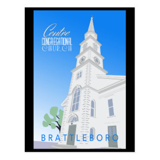 Centre Congregational Church Postcard