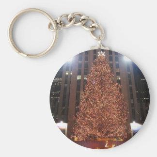 Centre de Rockefeller d arbre de Noël Porte-clef