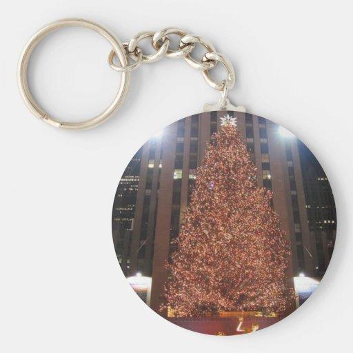 Centre de Rockefeller d'arbre de Noël Porte-clef