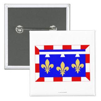 Centre flag pinback buttons
