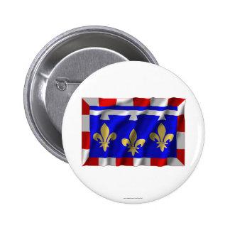 Centre waving flag pins