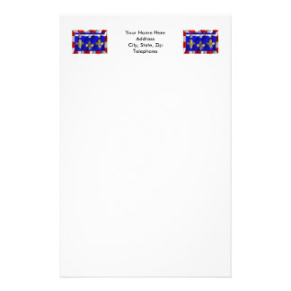 Centre waving flag stationery paper