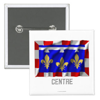 Centre waving flag with name pin