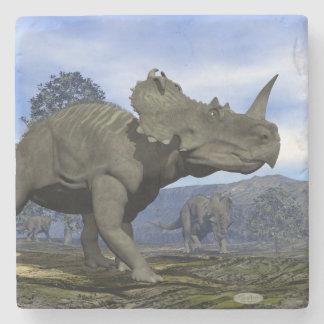 Centrosaurus dinosaurs - 3D render Stone Coaster
