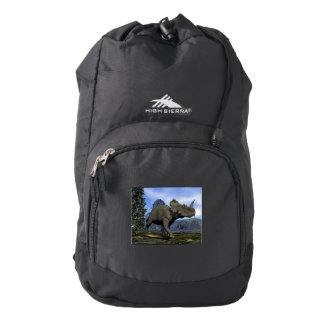Centrosaurus dinosaurs walking among magnolia tree backpack