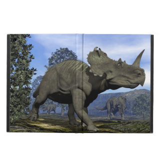 Centrosaurus dinosaurs walking among magnolia tree case for iPad air