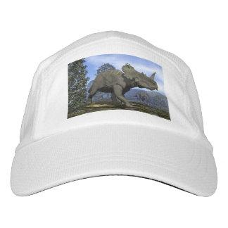Centrosaurus dinosaurs walking among magnolia tree headsweats hat