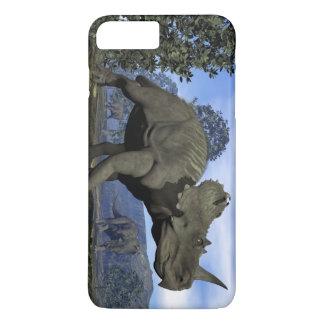 Centrosaurus dinosaurs walking among magnolia tree iPhone 8 plus/7 plus case