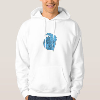 Centurion Soldier Torch Circle Drawing Hoodie
