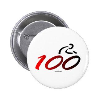 Century bike ride pinback buttons
