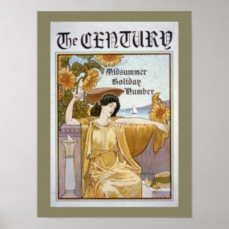 Century Magazine Cover Poster