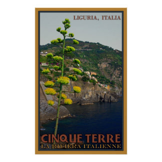 Century Plant on the Lower Cinque Terre trail Poster