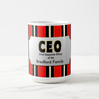 CEO MUG - of your family - Personalize Name