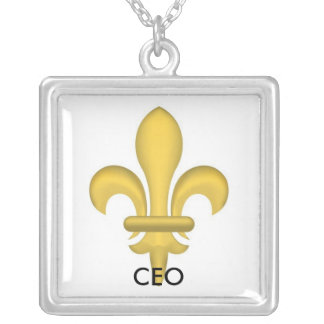 ceo silver plated necklace