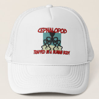 Cephalopod trapped in a human body trucker hat